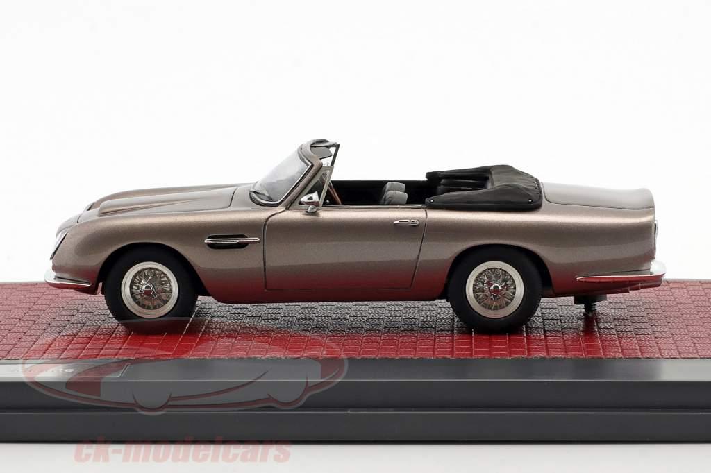 Aston Martin DB6 Volante Open ano de construção 1968 cinza metálico 1:43 matriz