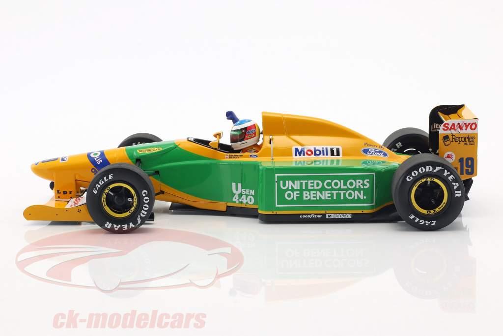Michael Schumacher Benetton B192 #19 4e Monaco GP formule 1 1992 1:18 Minichamps