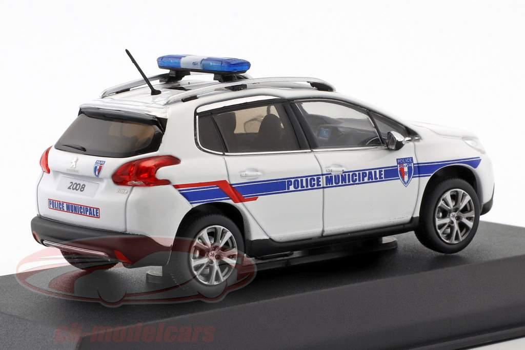 Peugeot 2008 Opførselsår 2013 Police Municipale hvid / blå 1:43 Norev