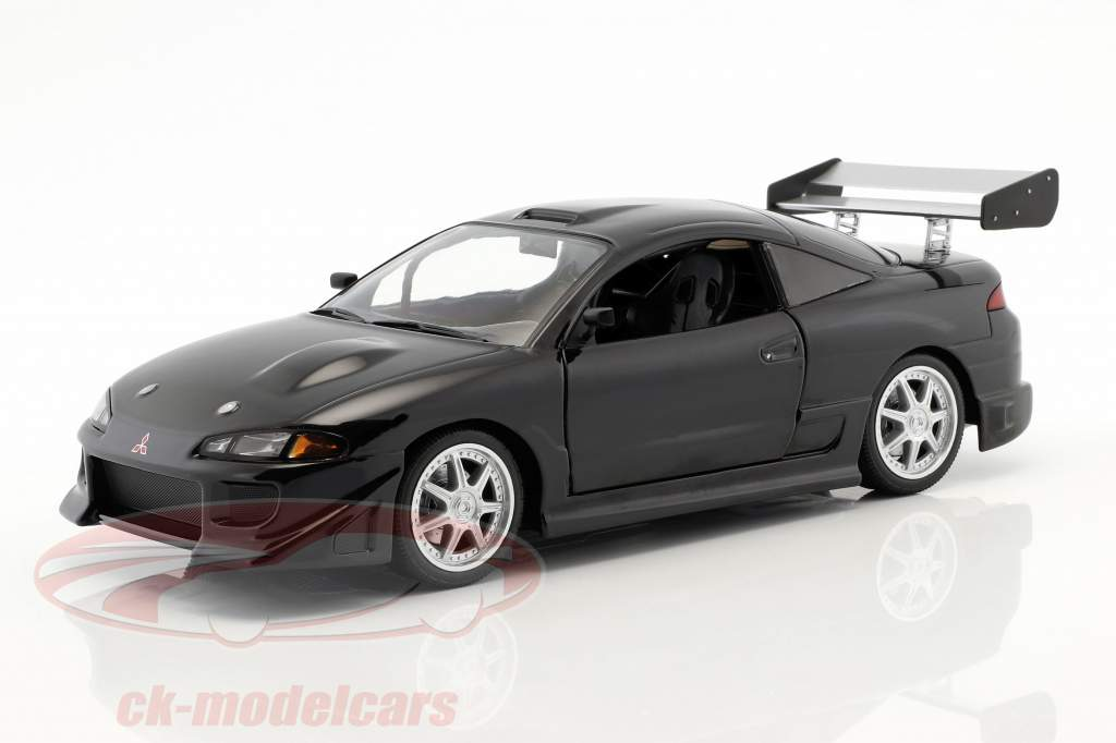 Mitsubishi Eclipse ano de construção 1995 preto 1:18 Greenlight