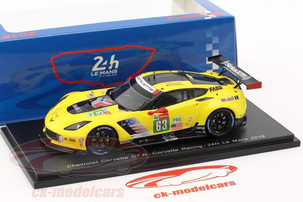 Chevrolet Corvette C7.R #63 24h LeMans 2018 Magnussen, Garcia, Rockenfeller 1:43 Spark