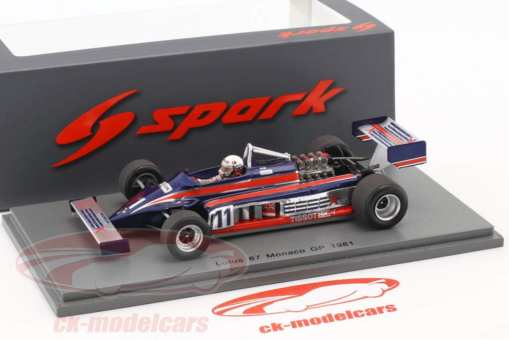 Elio de Angelis Lotus 87 #11 monaco GP formula 1 1981 1:43 Spark