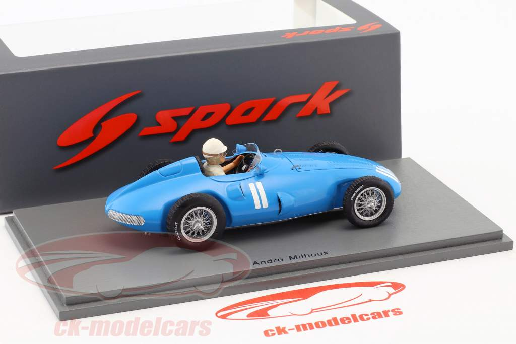 Andre Milhoux Gordini Type 32 #11 Alemania GP fórmula 1 1956 1:43 Spark