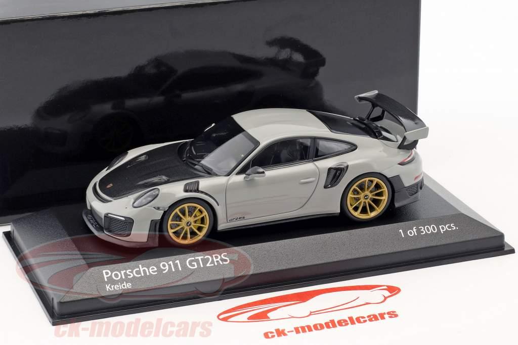 Porsche 911 (991.2) GT2 RS year 2018 chalk gray 1:43 Minichamps
