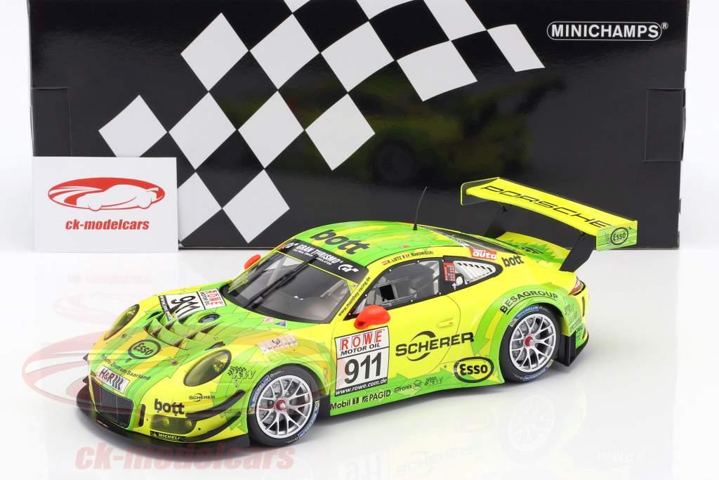 Porsche 911 (991) GT3 R #911 Vinder DMV 4h løb VLN 2017 Manthey Grello 1:18 Minichamps