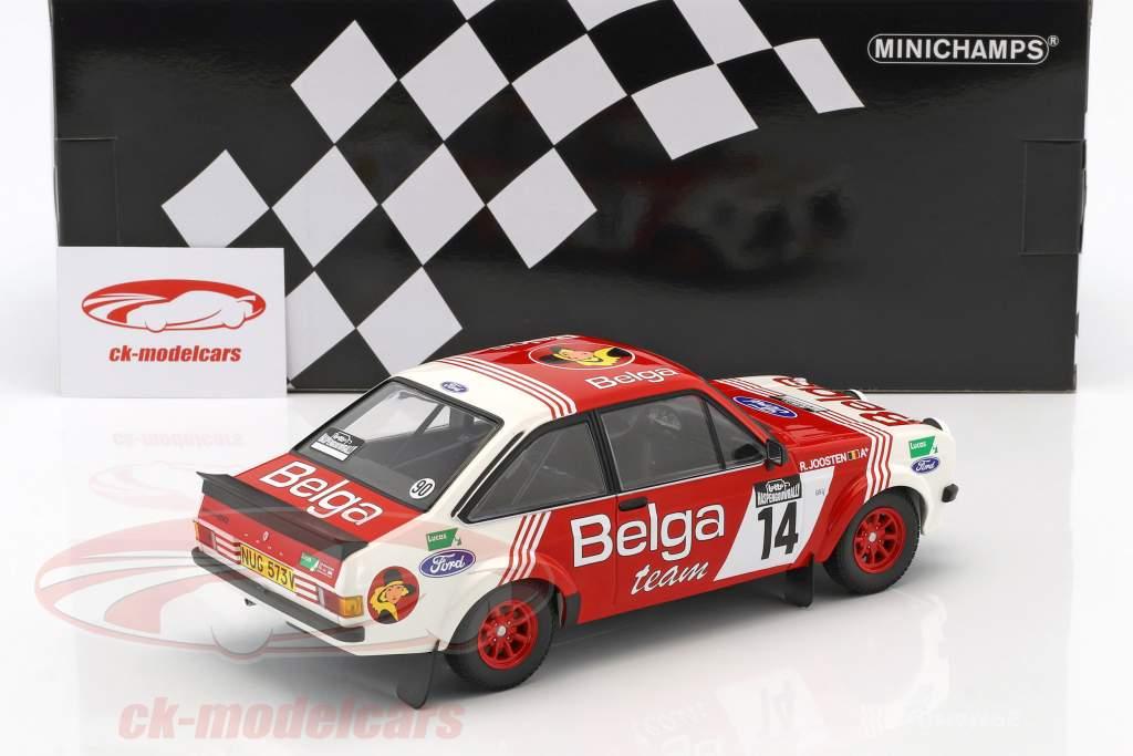 Ford Escort RS 1800 #14 tercero Lotto Haspengouw Rallye 1983 Droogmanns, Joosten 1:18 Minichamps