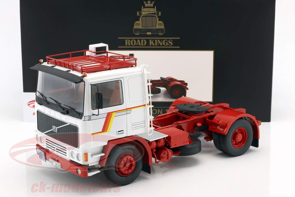 Volvo F12 Tractor year 1977 white / red 1:18 Road Kings