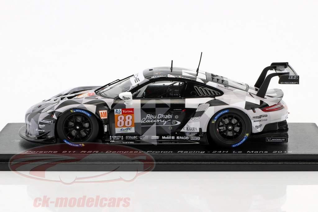 Porsche 911 RSR #88 24h LeMans 2018 Al Qubaisi, Cairoli, Roda 1:43 Spark