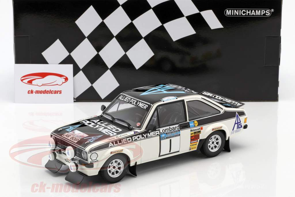 Ford Escort RS 1800 #1 Winner RAC Rally 1975 Mäkinen, Liddon 1:18 Minichamps