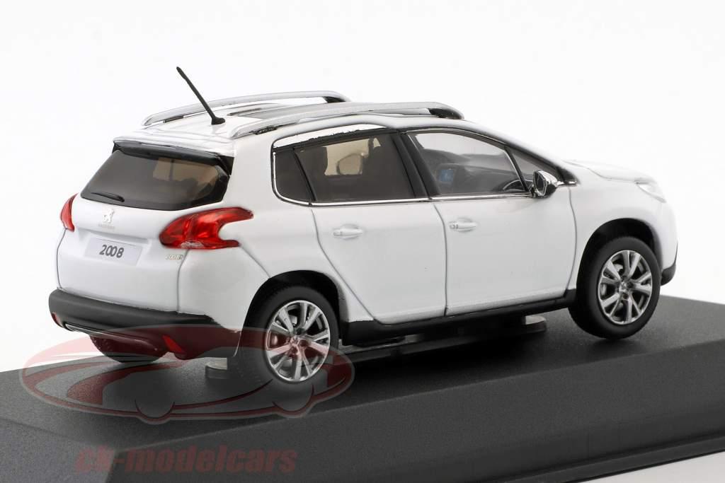 Peugeot 2008 Opførselsår 2013 hvid 1:43 Norev