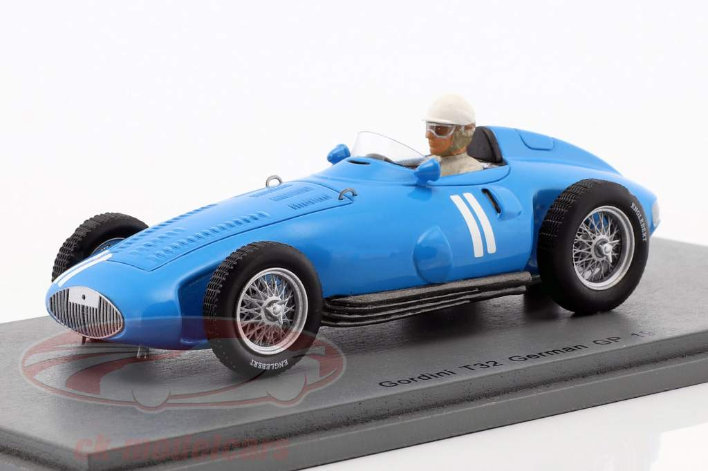Andre Milhoux Gordini Type 32 #11 Germany GP formula 1 1956 1:43 Spark