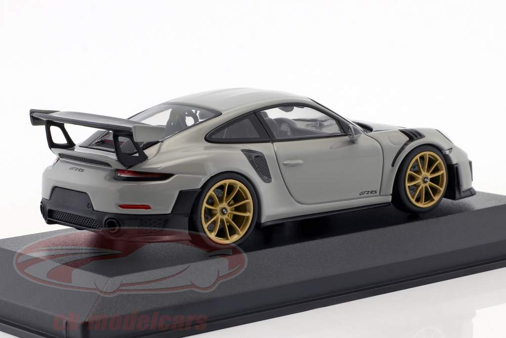 Porsche 911 (991.2) GT2 RS Bouwjaar 2018 krijt grijs 1:43 Minichamps