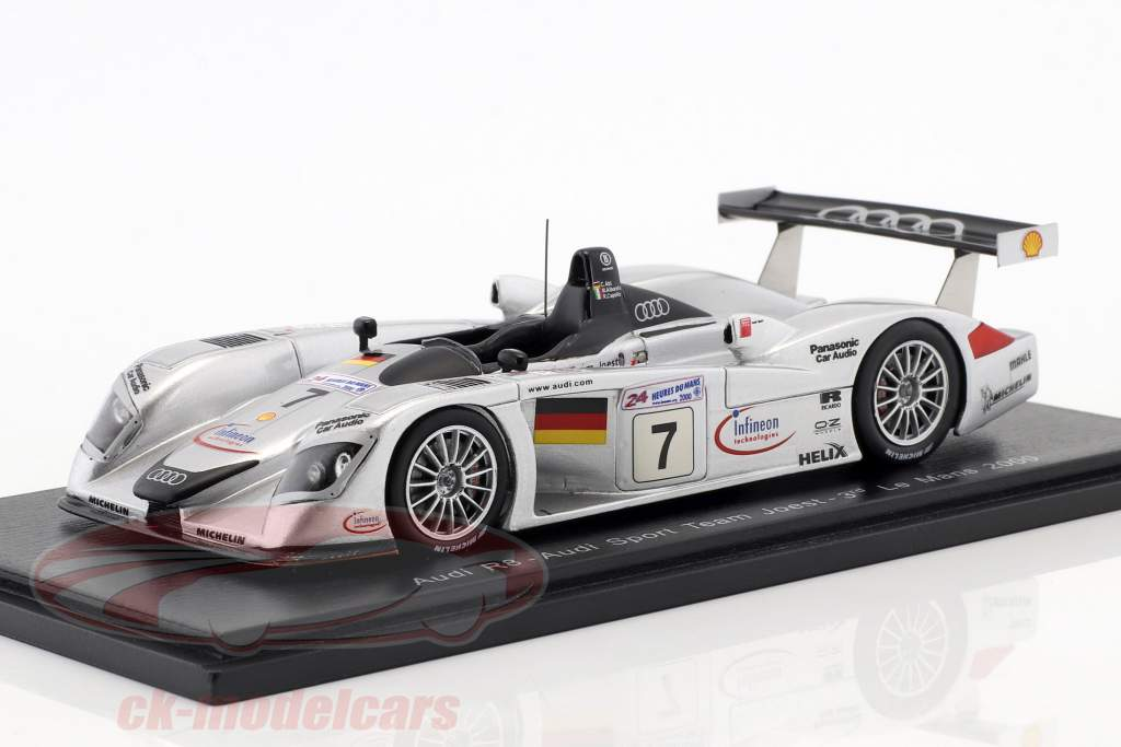 Audi R8 #7 3 ° 24h LeMans 2000 Abt, Alboreto, Capello 1:43 Spark