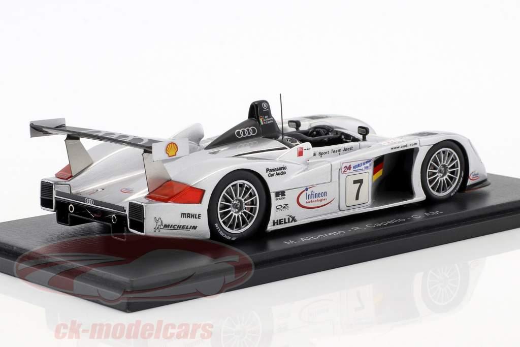 Audi R8 #7 tercero 24h LeMans 2000 Abt, Alboreto, Capello 1:43 Spark