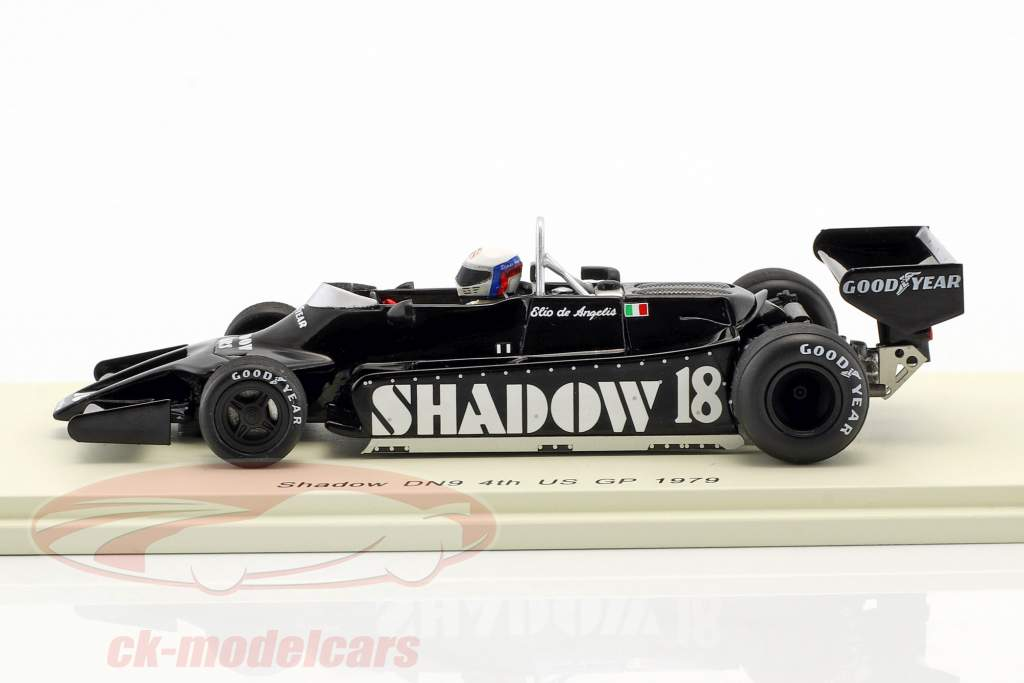Elio de Angelis Shadow DN9 #18 4. USA øst GP formel 1 1979 1:43 Spark