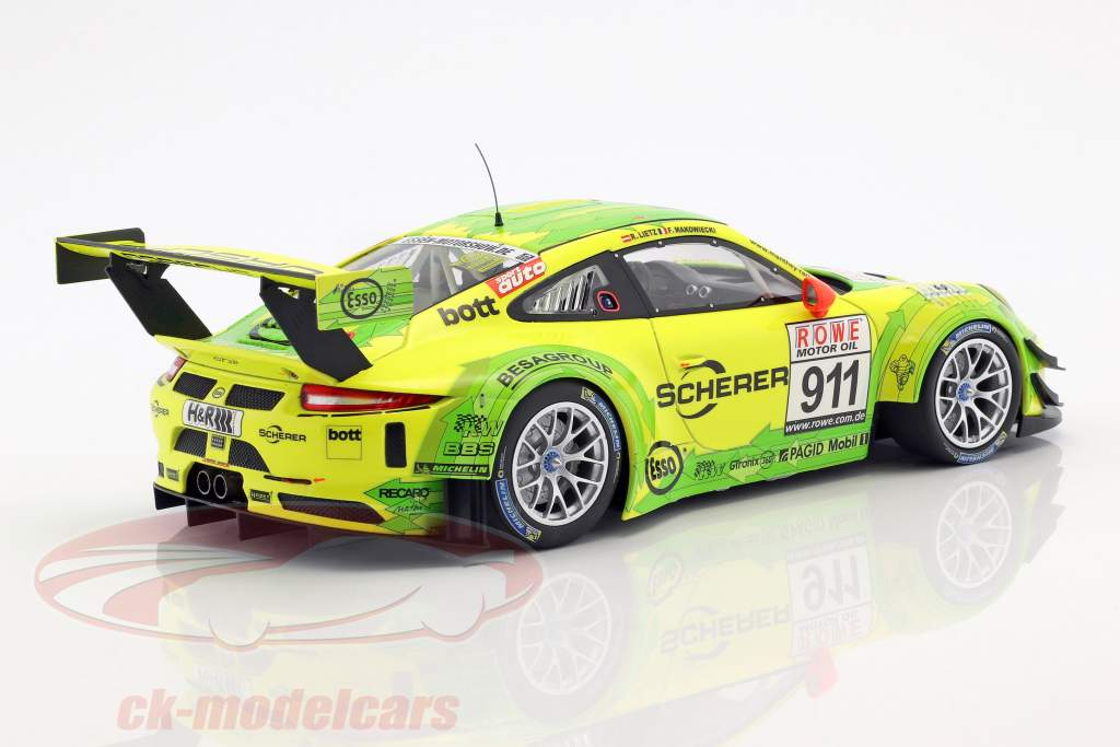Porsche 911 (991) GT3 R #911 Winner DMV 4h run VLN 2017 Manthey Grello 1:18 Minichamps