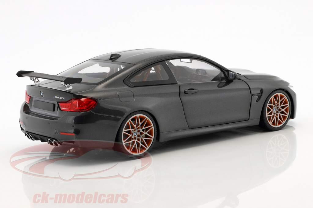 BMW M4 GTS ano de construção 2016 cinza metálico 1:18 Minichamps