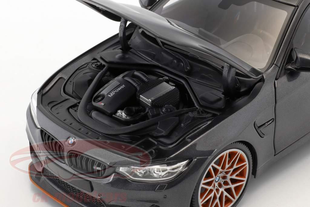 BMW M4 GTS año de construcción 2016 gris metálico 1:18 Minichamps