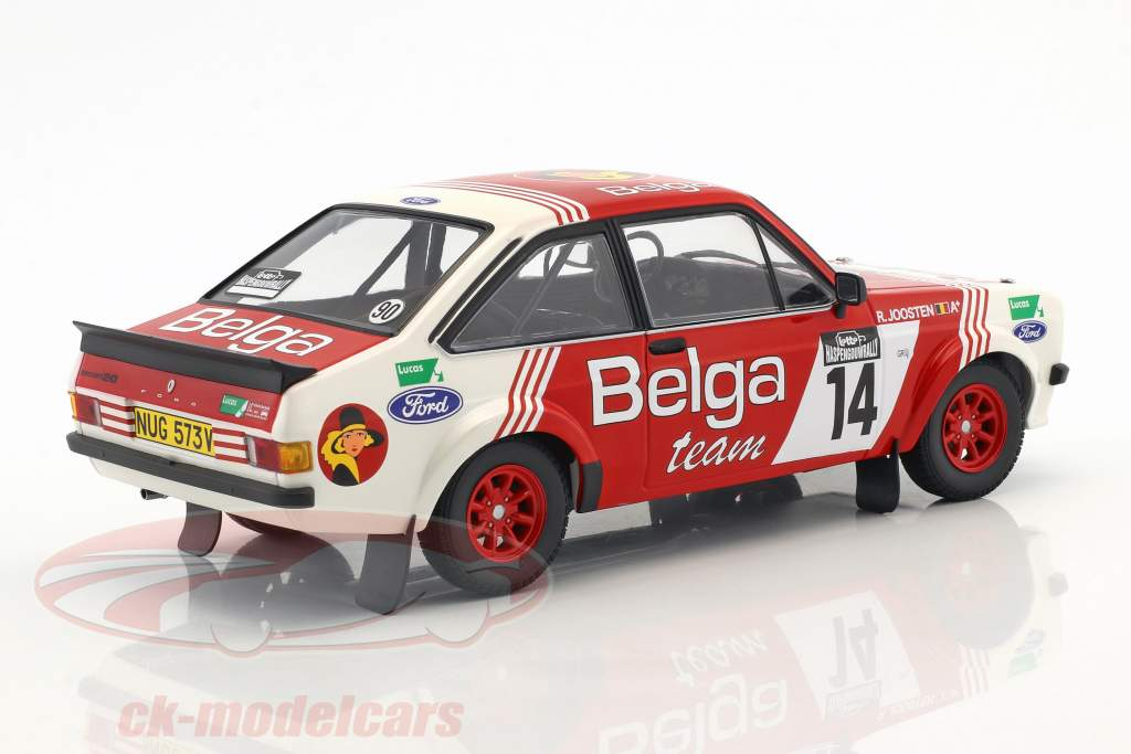 Ford Escort RS 1800 #14 3ª Lotto Haspengouw Rallye 1983 Droogmanns, Joosten 1:18 Minichamps