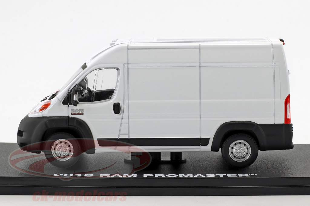 Ram ProMaster 2500 Cargo van Opførselsår 2018 hvid 1:43 Greenlight