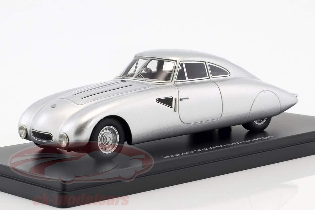Maybach SW38 coche aerodinámico año de construcción 1939 plata 1:43 Neo