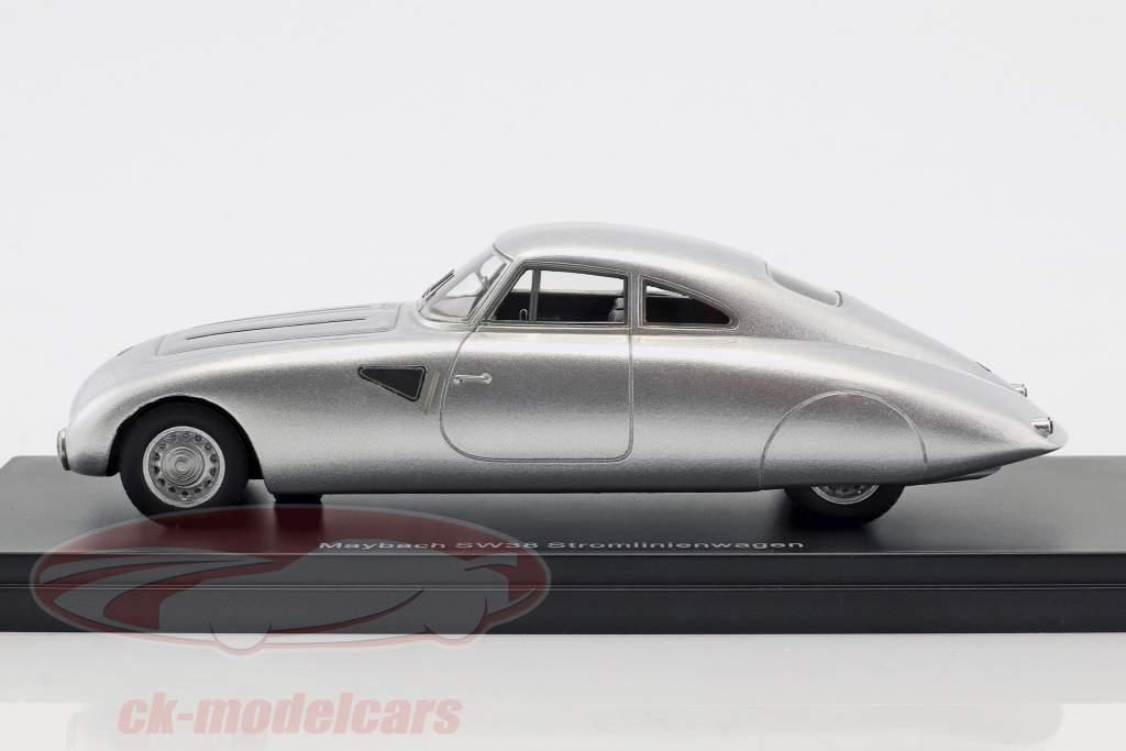 Maybach SW38 auto semplificata anno di costruzione 1939 argento 1:43 Neo