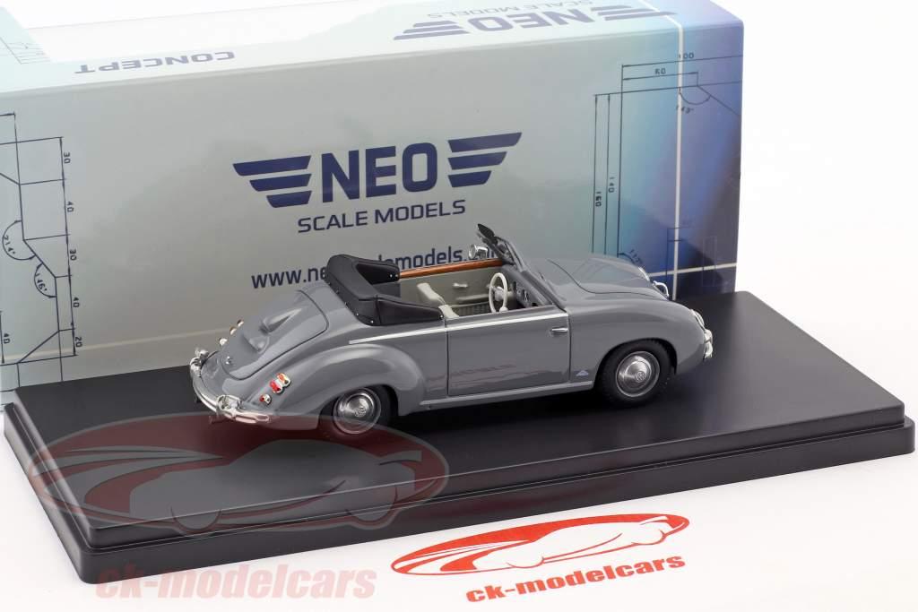 Volkswagen VW Dannenhauer und Stauss cabriolet anno di costruzione 1951 grigio 1:43 Neo