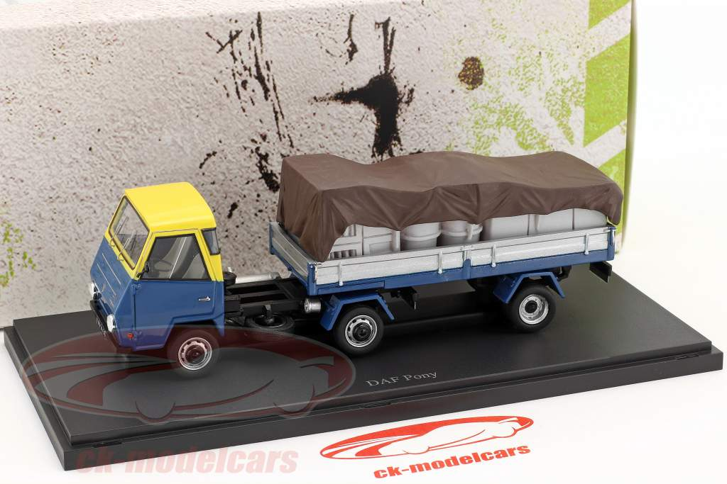 DAF Pony Netherlands year 1968 blue / yellow / silver 1:43 AutoCult