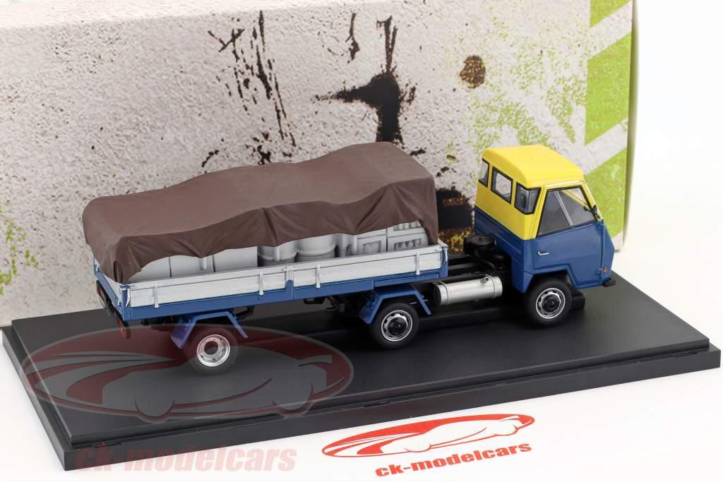 DAF Pony Holland Opførselsår 1968 blå / gul / sølv 1:43 AutoCult