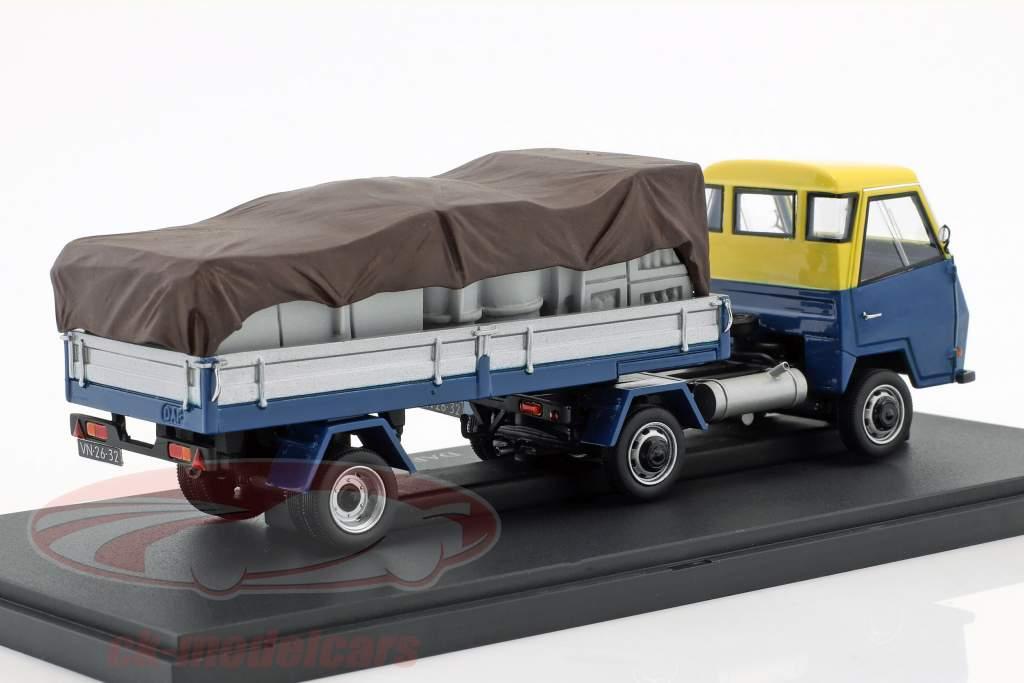DAF Pony Nederland Bouwjaar 1968 blauw / geel / zilver 1:43 AutoCult