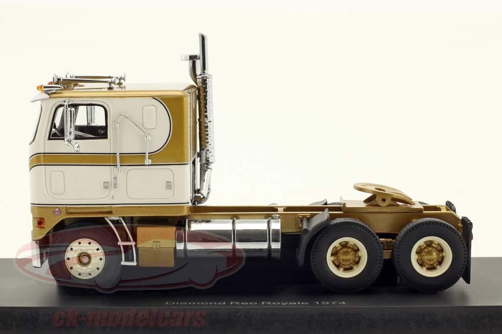 Diamond Reo Royale CO8864D trator ano de construção 1974 branco / ouro 1:43 Neo