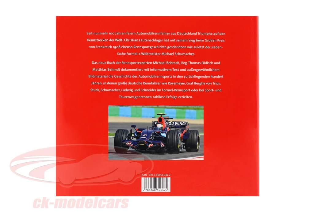 Livre: 100 Ans Allemand Racer Portraits, Photos et Réalisations