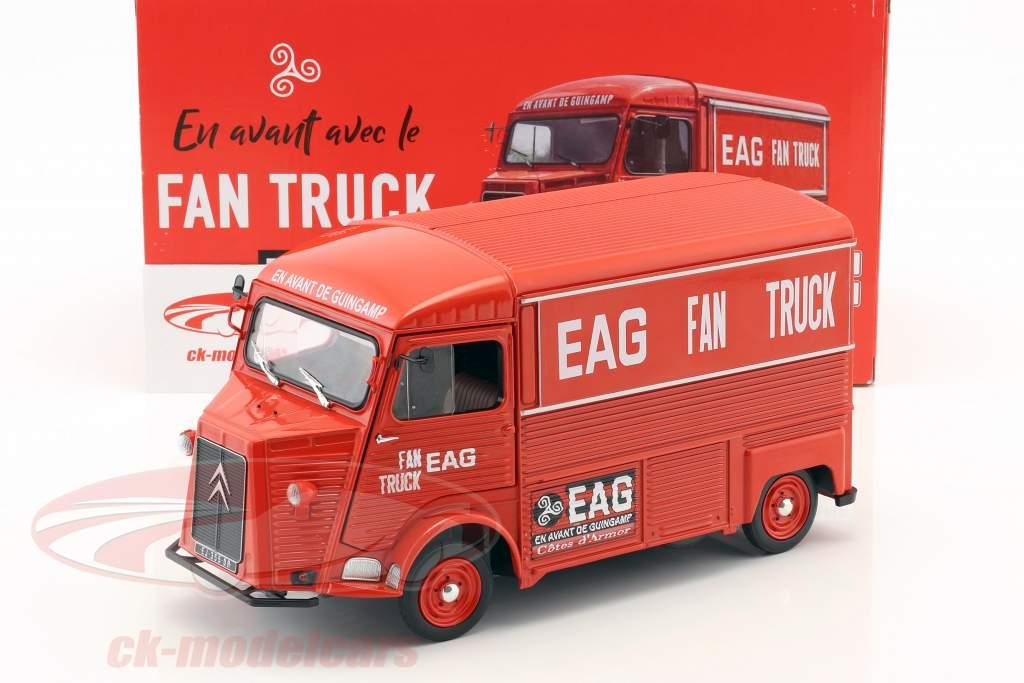 Citroen type HY année de construction 1969 En Avant de Guingamp Fan Truck 2019 rouge 1:18 Solido