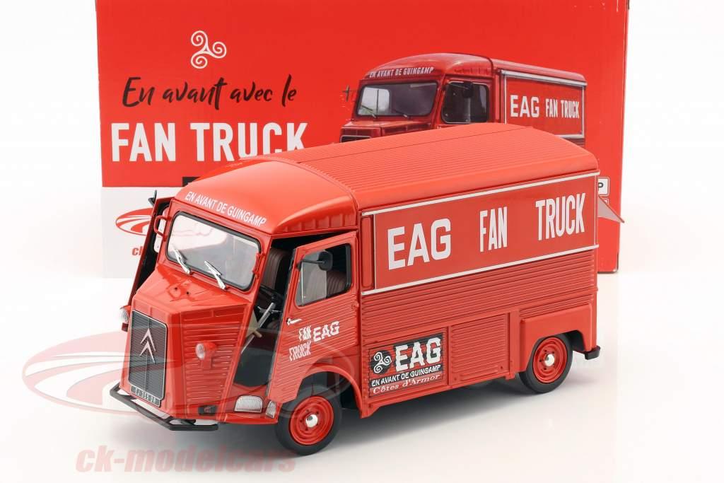 Citroen typen HY Opførselsår 1969 En Avant de Guingamp Fan Truck 2019 rød 1:18 Solido