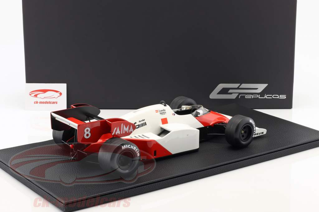 Niki Lauda McLaren MP4/2 #8 campeão do mundo fórmula 1 1984 1:12 GP réplicas