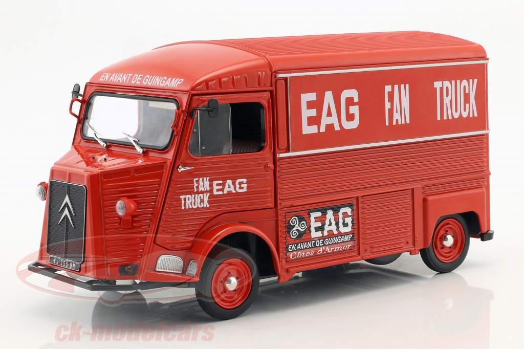 Citroen type HY Bouwjaar 1969 En Avant de Guingamp Fan Truck 2019 rood 1:18 Solido