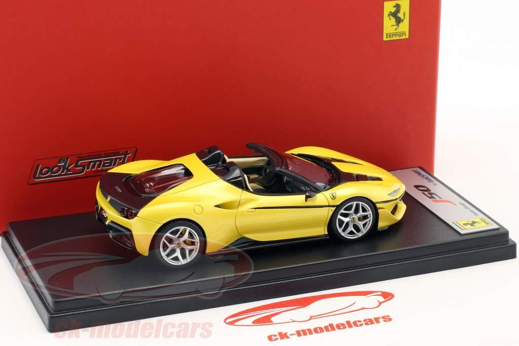 Ferrari J50 Roadster año de construcción 2016 tristrato amarillo 1:43 LookSmart
