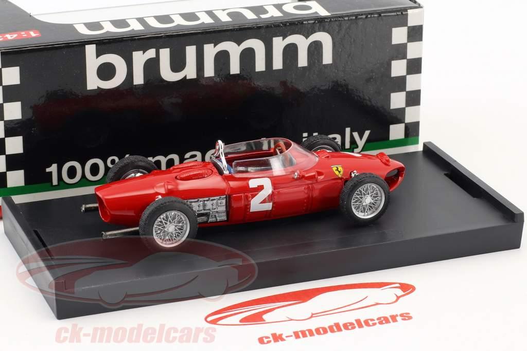 Phil Hill Ferrari 156 F1 #2 mundo campeão Itália GP fórmula 1 1961 1:43 Brumm