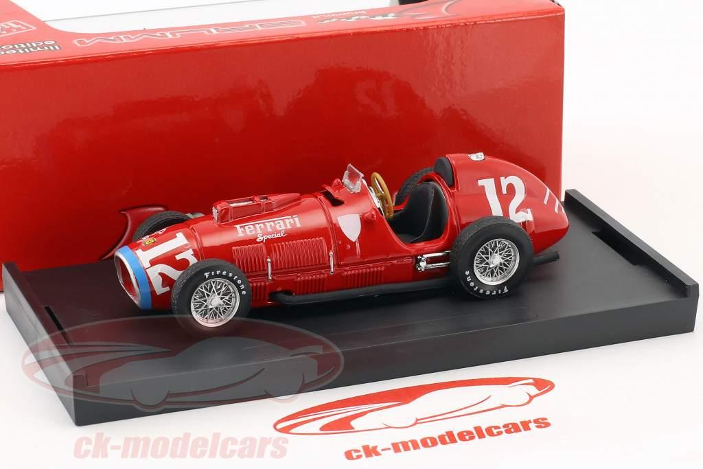 Alberto Ascari Ferrari 375 #12 Rookie Test Indianapolis campione del mondo F1 1952 1:43 Brumm