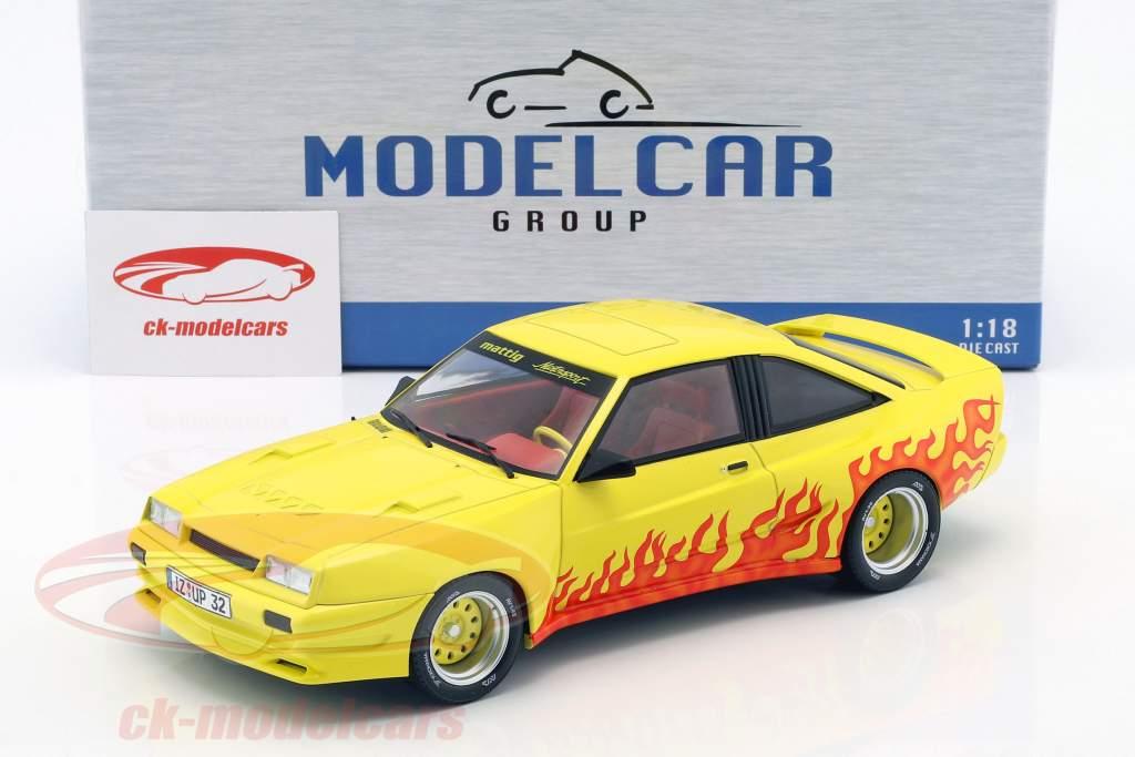 Opel Manta B Mattig année de construction 1991 jaune / orange 1:18 Model Car Group
