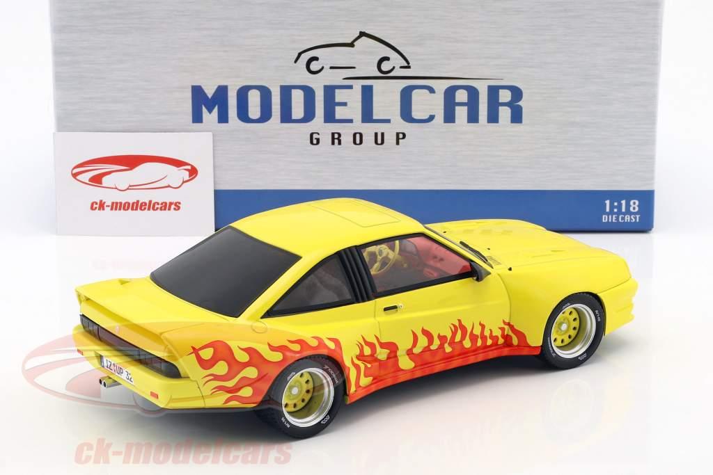 Opel Manta B Mattig anno di costruzione 1991 giallo / arancione 1:18 Model Car Group