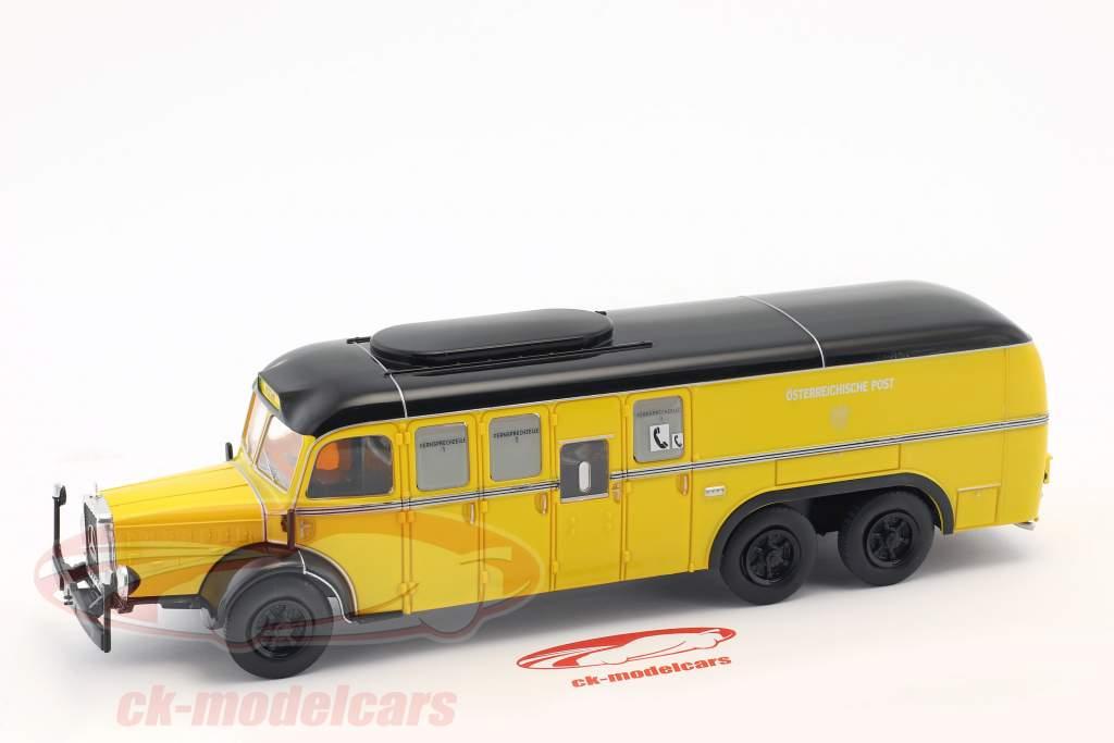 Mercedes-Benz O10000 ônibus correio Áustria ano de construção 1938 amarelo 1:43 Altaya