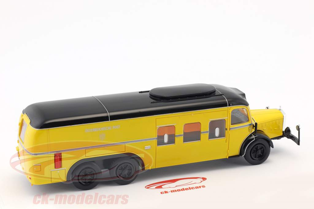 Mercedes-Benz O10000 bus post Østrig Opførselsår 1938 gul 1:43 Altaya