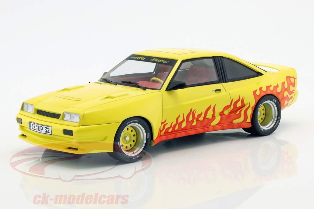 Opel Manta B Mattig año de construcción 1991 amarillo / naranja 1:18 Model Car Group