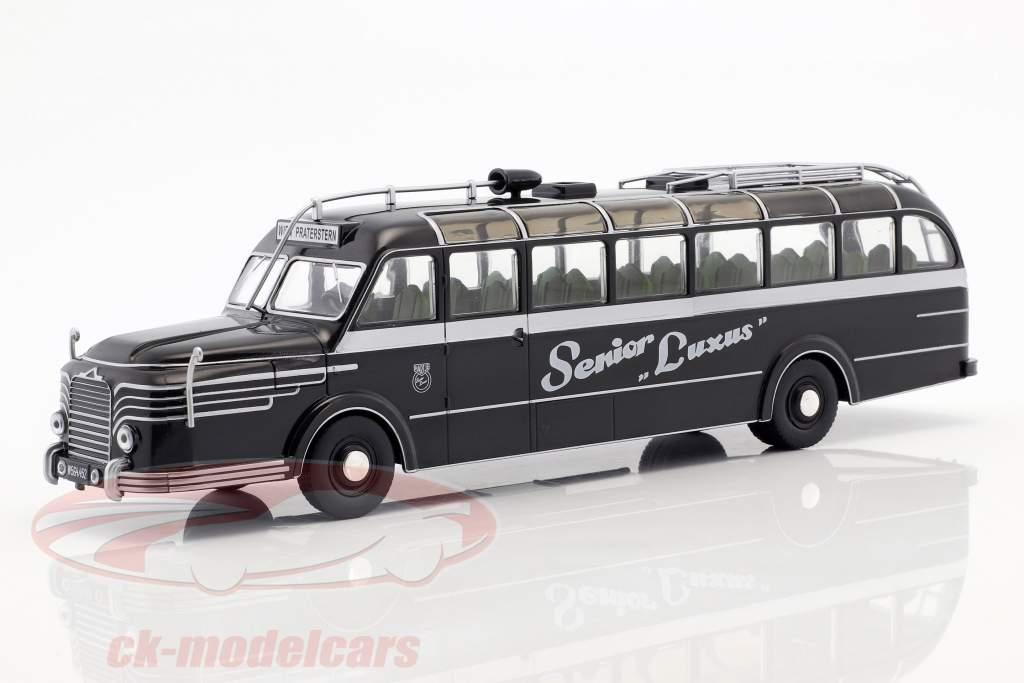 Krupp Titan O80 ônibus ano de construção 1951 preto / prata 1:43 Altaya