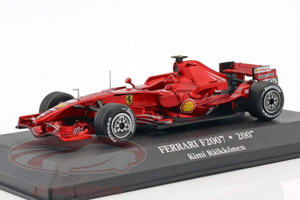 Kimi Räikkönen Ferrari F2007 #6 World Champion formula 1 2007 1:43 Atlas