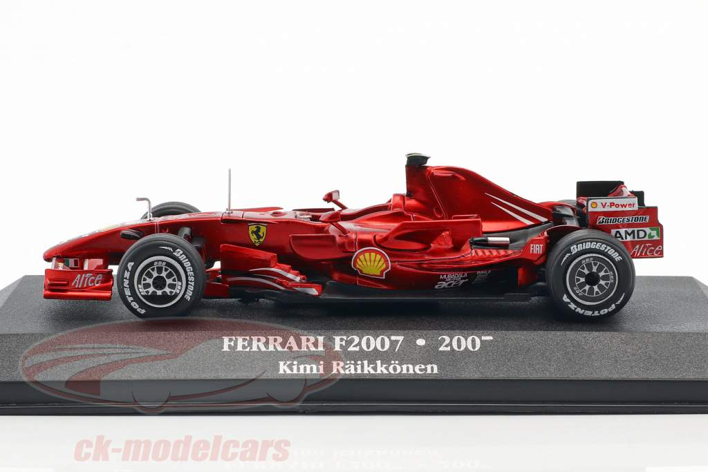 Kimi Räikkönen Ferrari F2007 #6 wereldkampioen formule 1 2007 1:43 Atlas