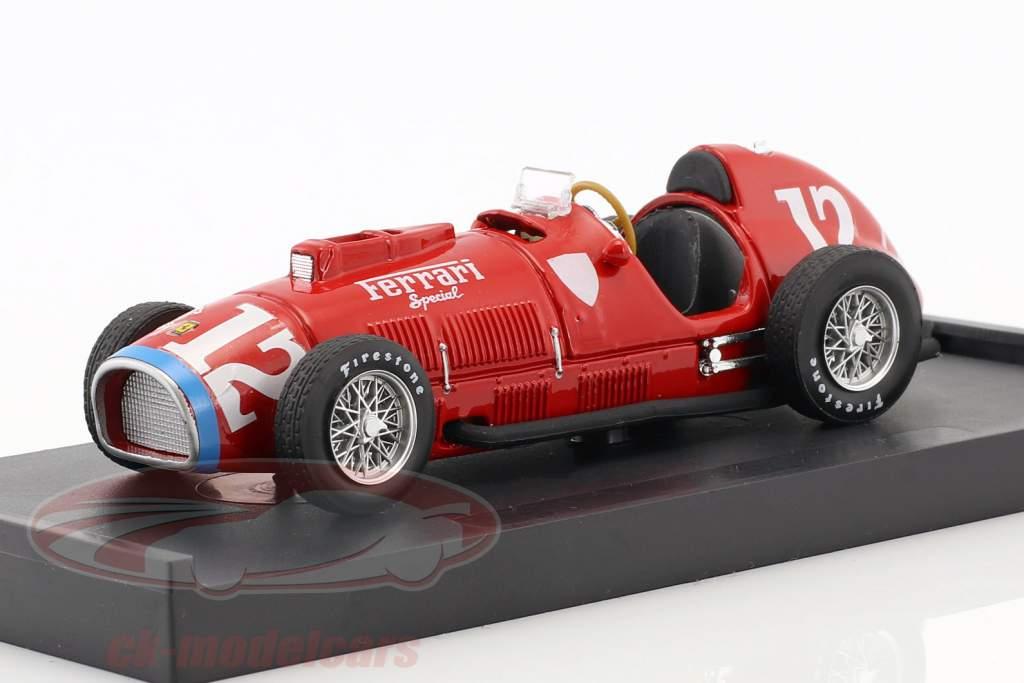 Alberto Ascari Ferrari 375 #12 Rookie Test Indianapolis campeón del mundo F1 1952 1:43 Brumm
