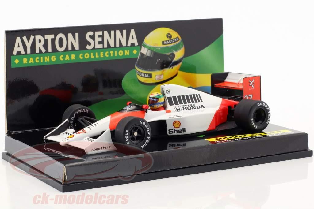 16-Car Set Ayrton Senna Racing Car Collection med certifikat 1:43 Minichamps