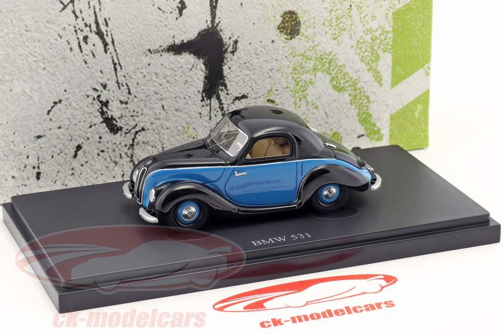 BMW 531 anno di costruzione 1951 nero / blu 1:43 AutoCult